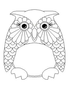 paint along owl clock - Owl Images To Color