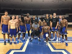 Your first unofficial team picture's Friday Morning Wakeup! While most of you were sleeping, your University of Kentucky Wildcats were up working. Strength coach Rob Harris had the team going late into the night a