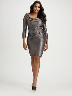 David Meister Cowl Neck Dress