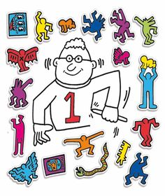 Keith Haring: Magnets, Set of Wooden Magnets $25.00 Own this colorful mix of wooden magnets designed by Keith Haring and have the coolest fridge in town. Colorful and eclectic, these magnets are great for kids and adults! Set of 18. Arrange however you like!