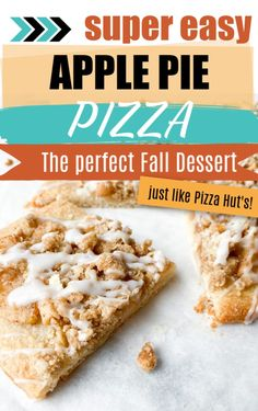 The perfect dessert for Fall- apple pie pizza! Full of delicious fall flavors such as cinnamon sugary apples and lots of nutmeg and cloves if you wish, this dessert is the absolute best. Use a homemade pizza crust or go ahead and buy one, it will turn out delicious all the same!