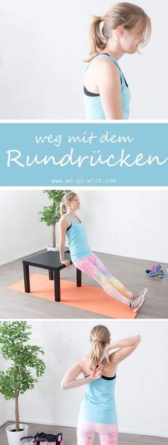 17 exercises against hunchback - effective hyperkyphosis workout - Pilates - Fitness Fitness Workouts, Pilates Workout, Yoga Fitness, Sport Fitness, Mens Fitness, Fun Workouts, Fitness Tips, Health Fitness, Salud Natural