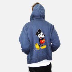 f6cf2720ac5 90s vintage Disney Mickey Mouse hoody. Women s XL or Mens Medium. Available  at KINGSVALLEYUK