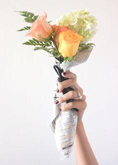 A Fabulous Fete: flower bar favors // weddings + parties