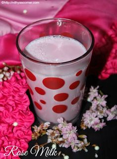 Rose Milk Recipe – A quick summer cooler made with milk and rose essence.
