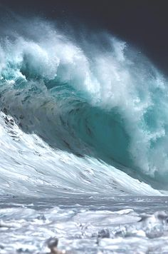 The beauty & power of Ocean waves! Water Waves, Sea Waves, Sea And Ocean, Ocean Beach, Fuerza Natural, Ocean Pictures, Surfing Pictures, Ocean Scenes, All Nature