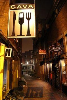 Cava in Portsmouth, NH: A tapas/small plates restaurant that's popular for a reason. Don't miss the tasting menu! (http://cavatapasandwinebar.com/)