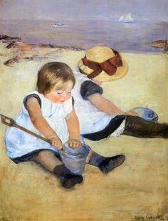 Mary Cassatt - Children Playing On The Beach 1884