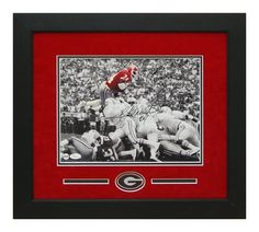 #HerschelWalker Autographed 11x14 - Georgia Bulldogs Custom Framed Photo. An awesome piece for any fan room, office, man cave or DAWG House! #ManCaveDecor #GeorgiaBulldogs #SportsMemorabilia #Autographs #GiftsForHim