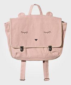 abf7e1c2f475 Emile et Ida Sleeping Eyes Backpack Pink Multi Kids Bags