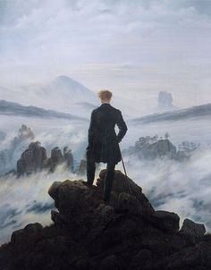 Wanderer above the Sea of Fog (German: Der Wanderer über dem Nebelmeer; also known as Wanderer Above the Mist) is an oil painting composed in 1818 by the German Romantic artist Caspar David Friedrich. It currently resides in the Kunsthalle Hamburg in Hamburg, Germany.