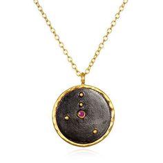 Celestial Zodiac and Birthstone Necklace