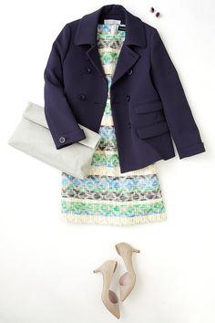 ルミネ新宿 ルミネ2の店頭アイテムでスプリングコートやジャケットを使った着こなしのコーディネート。ネイビーのショートコートで叶える、好感度大のきれいめスタイルは? 人気スタイリスト三好彩さんが無限に広がるコーディネートの楽しさをお伝えしつつ、「今日着たくなる服」を提案します!