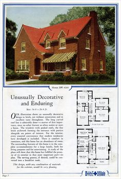 1924 Bilt-Well Model 4205 Traditional Eclectic love this: Make bath between Master & Bdrm 2 into an ensuite. Maid's room can be an office.