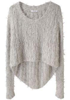 Cropped Shaggy Pullover
