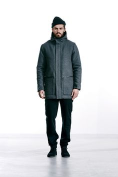 Wemoto 2015 Fall/Winter Collection: For its Fall/Winter 2015 collection, European brand Wemoto stays true to its founding aesthetic of Look 2015, Fall Winter 2015, Winter Collection, Mens Fashion, Fashion Trends, Raincoat, Winter Jackets, Normcore, Menswear