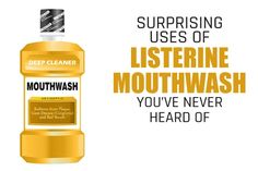 10 Surprising Uses of Listerine Mouthwash You've Never Heard Of - The Health Advise