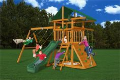 Amazon.com: Gorilla Playsets Outing III Playground System: Toys & Games