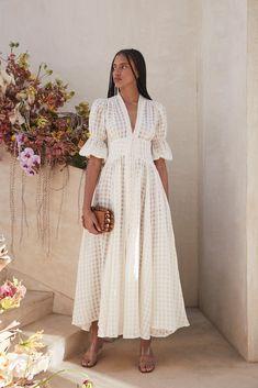 Modest Fashion, Fashion Dresses, Courthouse Wedding Dress, Casual Dresses, Summer Dresses, Summer Wedding Outfits, Midi Dresses, Linen Dresses, Look Boho