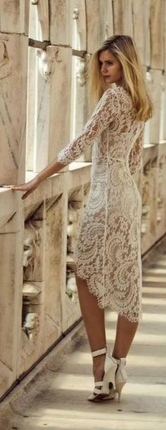 The perfect short lace dress for a casual informal ceremony or great for the reception or rehearsal dinner. http://www.shopbop.com/horizon-dress-lover/vp/v=1/1518295147.htm?folderID=2534374302178893=other-shopbysize=19463