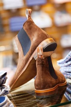 The Best Men's Shoes And Footwear : We love a pair of RM Williams boots at A Hume and the new Skinny Chelsea Boot are our pick for the Melrose Sevens. Full leather sole, wax rough-out suede and full cow leather lining. Men's Shoes, Shoe Boots, Dress Shoes, Dress Clothes, Shoes Style, Shoes Men, Sneaker Boots, Leather Men, Leather Boots