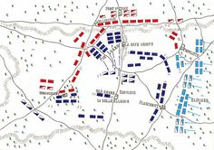 NAPOLEON'S LAST CAMPAIGN   The Guard attacks.  Note the exposed left flank.
