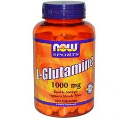 Now Foods, L-Glutamine, Double Strength, 1000 Mg, 120 Capsules, Diet Suplements 蛇