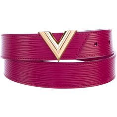 Pre-owned Louis Vuitton Essential V Belt (€360) ❤ liked on Polyvore featuring accessories, belts, pink, logo belts, pink belt, louis vuitton belt and louis vuitton