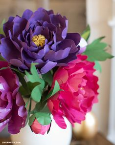 Metallic Peony Video - PaperPapers Blog