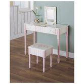Found it at Wayfair - Bouquet Vanity Table and Stool Set