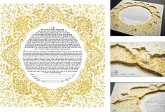 Romanza - 3D Version Ketubah by Susanne McGinnis - Ketubah.com