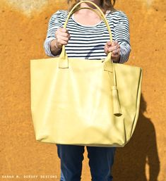 DIY leather tote!