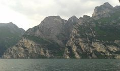 Rock formations on the west coast of the lake