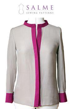 Salme patterns - Hidden Button Shirt...potential?