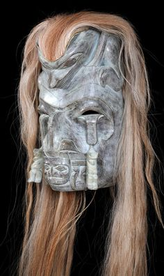 Salish Bear Mother Mask Carved by Francis Horne Sr. 18 H. 10 W. Good Condition Lot #124