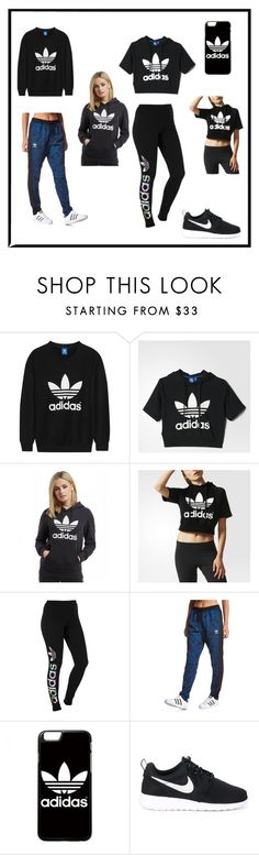 """Adidas"" by giovannakey ❤ liked on Polyvore featuring adidas Originals, adidas and NIKE"