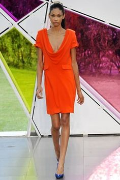 Nathan Jenden Spring 2009 Ready-to-Wear Collection Photos - Vogue Orange Prom Dresses, Orange Dress, Fashion News, Fashion Beauty, Fashion Show, Walk In Wardrobe, Celebrity Style, Ready To Wear, Short Sleeve Dresses