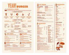 Yeah! Burgers menu design.