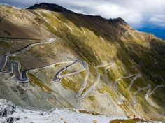 The highest road in the Alps is also the most dangerous.