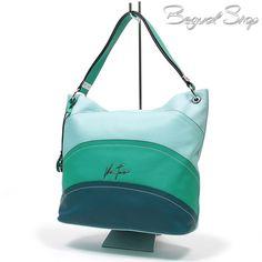 Velina Fabbiano zöld csíkos divatos női táska  1533 3e6f398308