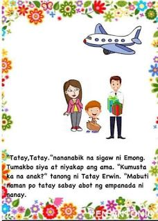Teacher Fun Files: DIY Big Book: Ang Eroplano ni Tatay Moral Stories For Kids, Short Stories For Kids, Kids Story Books, Reading Passages, Reading Comprehension, Shapes Worksheets, Visual Aids, Picture Cards, Kindergarten Teachers