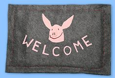 Roll out the welcome mat with this warm and inviting decorative craft. Welcome Mats, Decor Crafts, Warm, Bedroom, Bedrooms, Decorative Crafts, Decoration Crafts, Dorm Room, Dorm