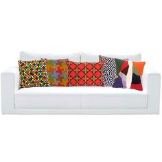 Brightly-colored vintage looking pillows