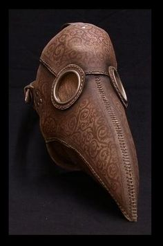 """Plague Doctor mask. Character design inspiration for """"The Mortician."""""""