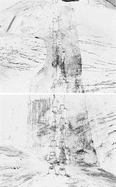 "Startling beauty and subtle complexity.  Landscape diptych ""Hintertuxerlgetscher 45"" by photographer Walter Niedermayr."