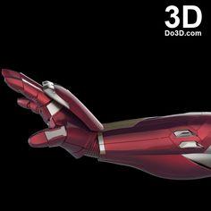 3d printable model mark 46 civil war iron man hand forearm gauntlet stl obj 1