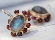 Labradorite Earrings 14K Gold Filled Jewelry by yifatbareket, $165.00
