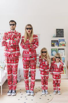 Family photo with the Christmas suits from OppoSuits as worn by Funny Family Photos, Funny Christmas Photos, Family Christmas Pictures, Funny Christmas Cards, Christmas Photo Cards, Holiday Cards, Family Christmas Outfits, Christmas Suit, Xmas