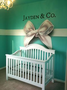 Nursery mural created by Murals By Renick, Houston TX. Girl Nursery, Girl Room, Themed Nursery, Nursery Room, Nursery Ideas, Bedroom Ideas, Azul Tiffany, Tiffany Blue Rooms, Tiffany Room
