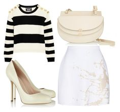 """Untitled #2195"" by fiirework ❤ liked on Polyvore featuring Chloé, Boutique Moschino, Zimmermann and Sergio Rossi"